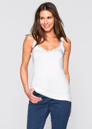 Top (pacco da 2), bpc bonprix collection, Bordeaux + bianco
