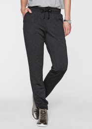 Joggpant in jersey pesante, bpc bonprix collection, Grigio melange