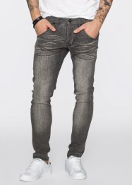 Jeans super elasticizzato skinny fit straight, RAINBOW, Light grigio denim used