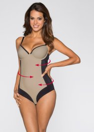 Body modellante, bpc bonprix collection, Nero / beige