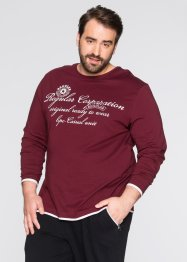 Maglia a manica lunga regular fit, bpc bonprix collection, Bordeaux