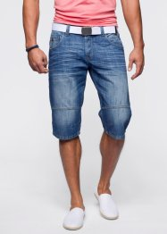 Bermuda lungo di jeans loose fit, RAINBOW, Antracite denim