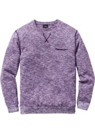 Pullover regular fit, bpc bonprix collection, Melanzana / bacca melange