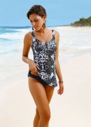 Tankini con top lungo, bpc selection, Nero / leopardato