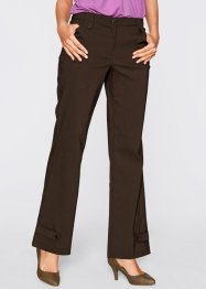 Pantalone elasticizzato in bengalin, bpc bonprix collection, Marrone scuro