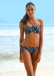 Slip per bikini, bpc bonprix collection, Blu / beige fantasia