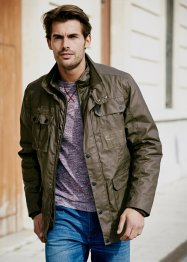 Field jacket rivestita regular fit, bpc bonprix collection, Verde oliva scuro