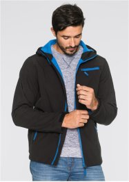 Giacca di softshell regular fit, bpc bonprix collection, Nero