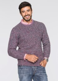 Pullover regular fit, bpc bonprix collection, Blu / rosso melange