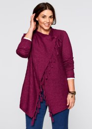 Cardigan con frange, bpc bonprix collection, Bacca