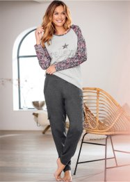 Pantalone in felpa, bpc bonprix collection, Antracite melange