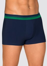 Boxer (pacco da 3), bpc bonprix collection, Blu scuro / verde