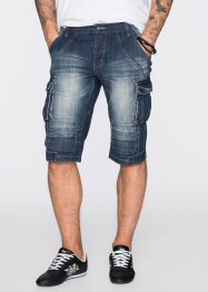 Bermuda lungo di jeans regular fit, RAINBOW, Dark blu stone used