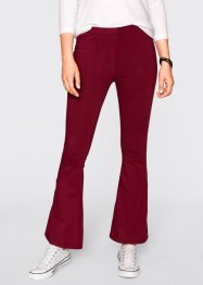 Pantalone in maglina, bpc bonprix collection, Bordeaux