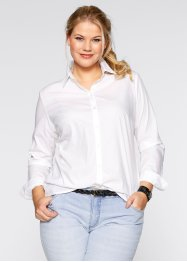 Camicia bacis a maniche lunghe, bpc bonprix collection, Bianco