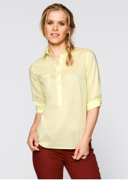 Blusa basic con manica a 3/4, bpc bonprix collection, Giallo sorbetto