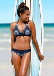 Slip per bikini, bpc bonprix collection, Blu scuro / bianco