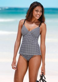 Top con ferretto per tankini, bpc bonprix collection, Nero / bianco