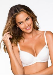 Reggiseno push-up, bpc bonprix collection, Nero + bianco