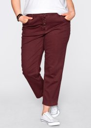 Pantalone elasticizzato 7/8, bpc bonprix collection, Bordeaux
