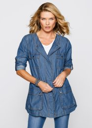 Giacca lunga in jeans, bpc selection, Blu stone