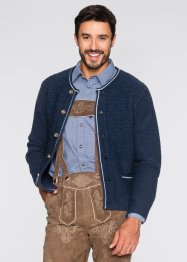 Cardigan tradizionale regular fit, bpc selection, Blu scuro melange