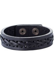 Bracciale in pelle «Stockholm», bpc bonprix collection, Nero