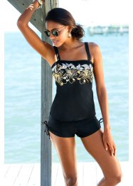 Top per tankini, bpc selection, Nero / oro