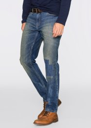 Jeans elasticizzato regular fit tapered, John Baner JEANSWEAR, Blu