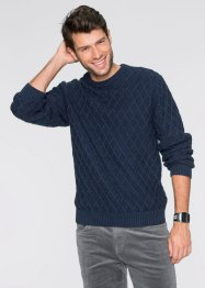 Pullover regular fit, bpc bonprix collection, Blu scuro