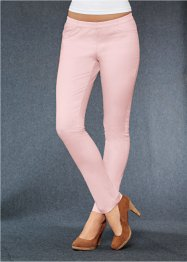 Treggings elasticizzato, bpc bonprix collection, Rosa tenero