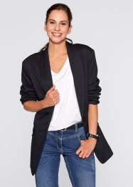 Blazer ampio a manica lunga, bpc bonprix collection, Nero