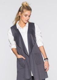 Gilet in maglina lungo, RAINBOW, Antracite