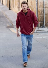 Felpa con cappuccio regular fit, John Baner JEANSWEAR, Bordeaux