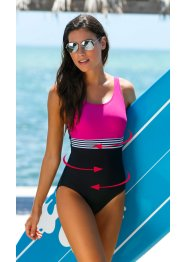 Costume intero modellante, bpc bonprix collection, Fucsia / nero