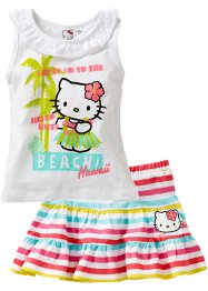 "Top + gonna ""HELLO KITTY"" (set 2 pezzi), Hello Kitty, Bianco a righe Hello Kitty"