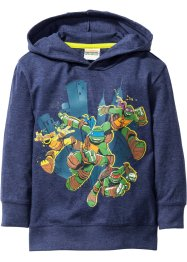 "Maglia con cappuccio ""TURTLES"", Teenage Mutant Ninja Turtles, Blu scuro melange ""TURTLES"""