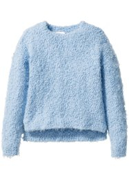 Pullover in filato peloso, bpc bonprix collection, Azzurro