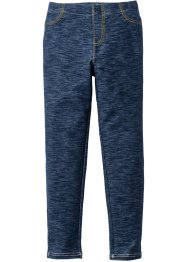 Leggings effetto denim, bpc bonprix collection, Blu scuro melange