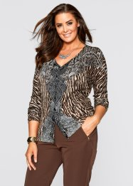 Cardigan, bpc selection, Marrone chiaro leopardato