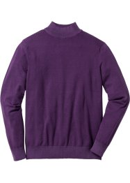 Pullover a collo alto regular fit, bpc selection, Melanzana