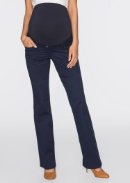 Pantalone prémaman in twill bootcut, bpc bonprix collection, Blu scuro