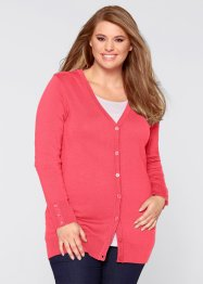 Cardigan a manica lunga, bpc bonprix collection, Fucsia chiaro