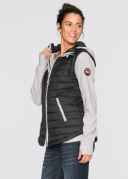 Gilet funzionale 3 in 1 con pile, bpc bonprix collection, Nero