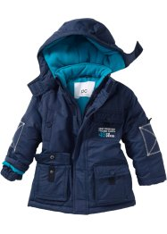 Parka imbottito con cappuccio, bpc bonprix collection, Blu scuro