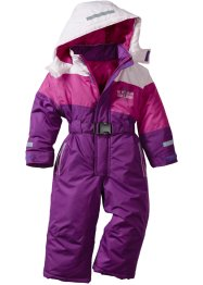 Tuta da neve, bpc bonprix collection, Violetto / lilla cipria / fucsia medio