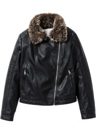 Giacca biker in similpelle, bpc bonprix collection, Nero