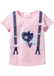 T-shirt, bpc bonprix collection, Rosa cipria stampato