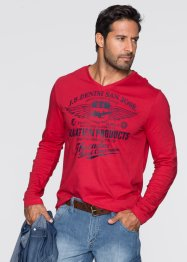 T-shirt regular fit, John Baner JEANSWEAR, Rosso