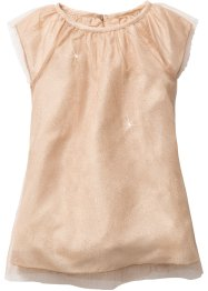 Abito in tulle con glitter, bpc bonprix collection, Mandorla / oro